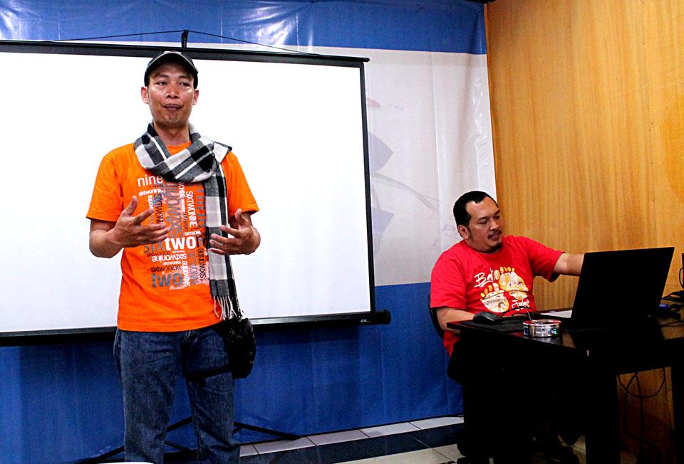 Kang Argun saat pembukaan Workshop