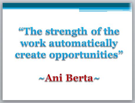 Quote Ani Berta